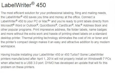 DYMO LabelWriter 450 Label Printer - In stock - Q8SUPPLY